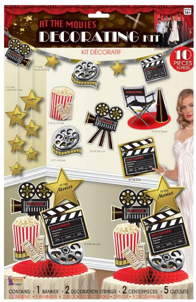 At the Movies Décor Kit Hollywood Famous Star Film Party Decoration